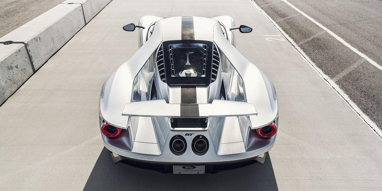 """<p>As cool as <a href=""""https://www.roadandtrack.com/new-cars/first-drives/a33471/what-you-learn-after-driving-the-ford-gt/"""" target=""""_blank"""">the Ford GT</a> is, it leaves virtually no room for real day-to-day usability. The interior is cramped, it's low, and the only storage space you get can barely fit a pair of sneakers.  </p>"""