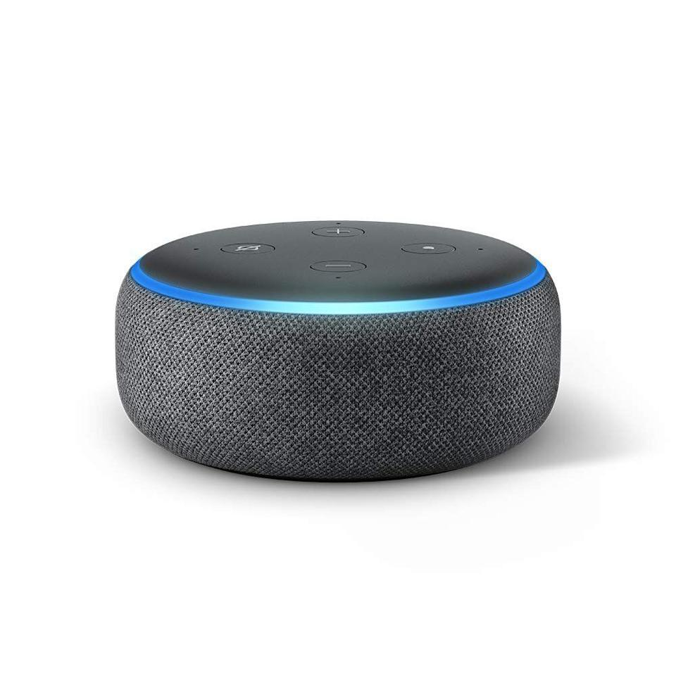 """<strong><a href=""""https://www.amazon.com/All-new-Echo-Dot-3rd-Gen/dp/B0792KTHKJ/ref?thehuffingtop-20"""" target=""""_blank"""" rel=""""noopener noreferrer"""">Find it for $50 on Amazon.</a></strong>"""