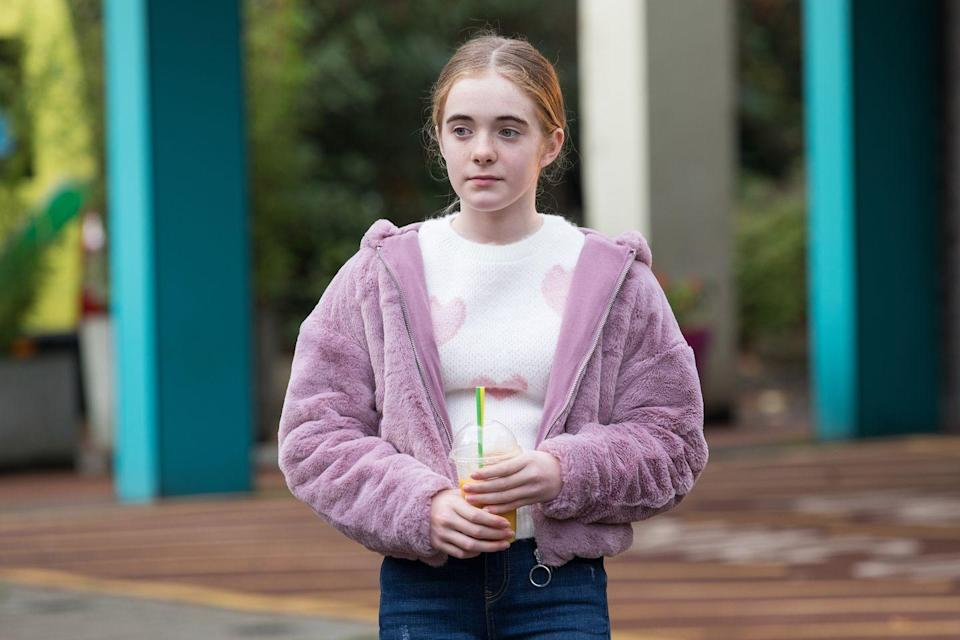 <p>Charlie has made the decision to take the blame for her.</p>