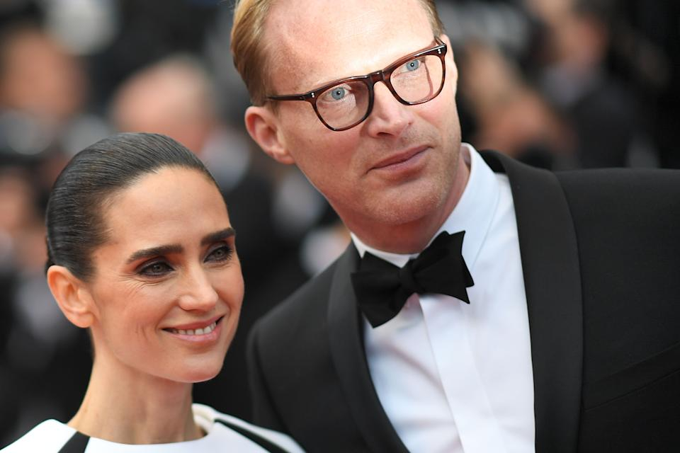 British actor Paul Bettany (R) and his wife US actress Jennifer Connelly pose as they arrive on May 15, 2018 for the screening of the film