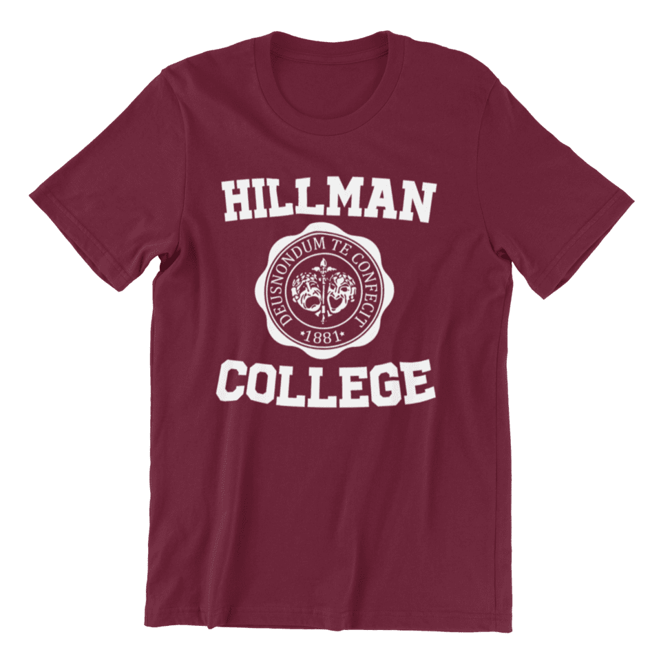 <p><strong>A Different World</strong> may have aired between 1987-1993, but the TV series is still beloved by Black people everywhere. The show taught us about the Black college experience, Black friendships, Black love, and equality as we watched members discuss apartheid and a different variety of racism throughout the show. Hillman College, where the characters attend, will forever be a soft spot for the show's fans. </p> <p><span>Hillman College</span> ($28)</p>