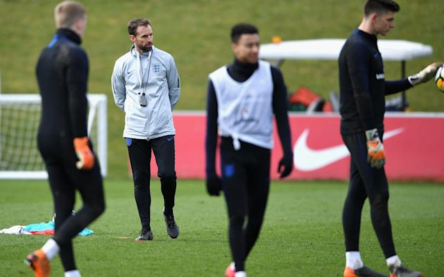 "Anyone hearing Gareth Southgate speak with such purpose for almost two hours on Thursday at Wembley could be reassured – the reactions from Joe Hart and Jack Wilshere to their England omission would never dent his optimism. Southgate's focus had moved from assessing players whose recent performances have not matched their past promise to what might be possible among a young group from which he thinks world-class performers can emerge. He was asked whether a player like Dele Alli might announce themselves to the wider world. Rather than flinch at creating excessive expectation, he reeled off another six players with that sort of potential. He did not regard that list as exhaustive and pointed out Alli's statistics were in advance of Steven Gerrard at the same age. ""There are so many possible players in this group that it could be that moment,"" he said. ""You perform in a World Cup and that announces you to the world. That's the beauty of playing in an England shirt. You have the chance to make history in games that really matter and that people will remember forever. ""From [John] Stones and [Harry] Maguire, to Ruben [Loftus-Cheek] to Dele [Alli] to Raheem [Sterling]. Harry [Kane], [Marcus] Rash[ford]. There are any number that could announce themselves. I was involved in 1998 and [David] Beckham and [Michael] Owen didn't start the first game. They were both left out. By the end of it, they were the two headline-grabbers."" What has been so refreshing about Southgate is how reputations have had such little influence on his decisions. It is less than two years since Sam Allardyce was talking about Wayne Rooney playing wherever he wanted in an England shirt. Before that we had the backroom involvements of Beckham and Gary Neville under Fabio Capello and Roy Hodgson. England Formation Builder Southgate looked baffled when it was put to him on that he might take another England ""legend"" – a Lampard, Gerrard or Ferdinand – to work with him and Steve Holland, his assistant. ""Steve Holland is a legend,"" he said, of the ex-Chelsea assistant manager. ""He has won the Champions League. He has won the Europa League. He has won the Premier League. He has won the FA Cup. I think he has won the League Cup as well. He is the most experienced English coach in the country. He has been in the biggest matches possible and we have complete trust in each other. That is a critical relationship. Terry Venables had that with Don Howe, who also operated at the highest level and would challenge Terry."" Their collective diligence is clear. Guest speakers to the group have included John Barnes, Eddie Jones and Alan Shearer. The squad have also met leading figures from American football and have trained with the Marines. Similar bonding exercises and invitations to people from inside and outside of sport will be made over the next month. England squad: A bold selection with a clear sense of direction ""It brings energy – we have to stimulate people,"" explained Southgate. While conscious the players do not want to hear him droning on about personal experiences, he knows it can help some decisions. He decided against naming a big provisional squad. ""My experience was, this way is cleaner,"" he said, presumably remembering when Glenn Hoddle had to tell Paul Gascoigne he would not make the 1998 World Cup. In explaining every squad selection and the omissions of big names, he stated with confidence they had not been among the best performers in their positions. When you looked back at their seasons, it was difficult to disagree. One big boost has been the involvement of a healthy number of English players with the top four clubs. Manchester City and Liverpool's achievements will surely make their domestic players discard any inferiority complex. Sterling, for example, has been integral to City's Premier League dominance and Southgate says that he had never seen him score more often than during recent training with England. World Cup predictor The Champions League final could also impact on England's hopes. Southgate has still not decided who his captain will be and can sense genuine leadership in Jordan Henderson's Liverpool performance. Of the boost a Liverpool victory would bring to England, Southgate said: ""I think it is big. You want them to experience winning things because then they know what it has taken, the commitment that is needed and the mindset that is needed and that hurdles can be overcome. When I took the Under-21s, I believed young English players could play in a certain style. What was stopping them from being as good as players around the world? Manchester City have a core of four English players most weeks. Manchester United, Liverpool and Tottenham the same."" It is now less than a month until England begin their campaign in Volgograd against Tunisia. So does Southgate know his starting team? Yes,"" he said. ""There is opportunity for people to play their way into that... but we know who we would select tomorrow."""