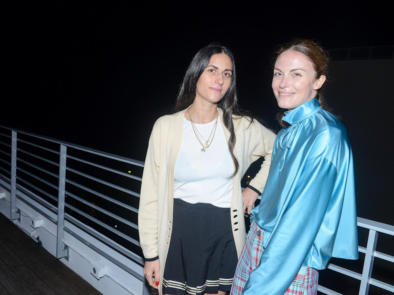Kaylie Schiff and Sonja Mauro attend ICA Dinner For Sterling Ruby at Soho Beach House.