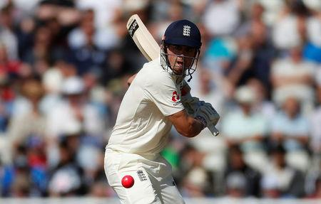 Cricket - England vs West Indies - First Test - Birmingham, Britain - August 17, 2017   England's Alastair Cook in action   Action Images via Reuters/Paul Childs
