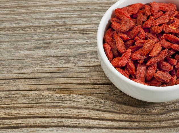<b>Goji Berries</b> This Chinese food item is rich in beta-carotene, giving competition to the erstwhile provider of the same – carrot. It also provides a sufficient amount of Vitamin C, making it a great antioxidant for the human body. Consume them raw, as snack, or mixed with other fruits!