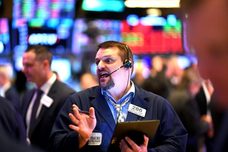 Global stock markets have been in free fall amid hints of panic (AFP Photo/Johannes EISELE)