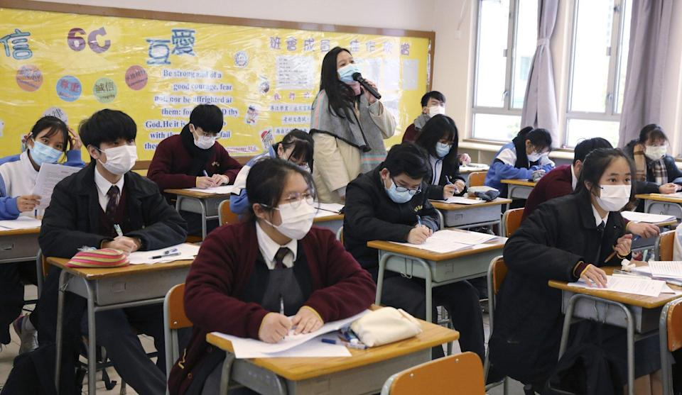 The secondary school heads association has raised concerns that surveillance in classrooms could be detrimental to pupils' education. Photo: K. Y. Cheng