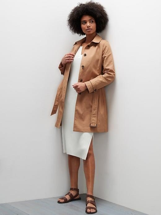 <p>It's hard to go wrong with a trench and the thigh-length <span>Banana Republic Classic Cotton Rain Coat</span> ($206, originally $229) is surprisingly warm thanks to a heavy twill texture. </p>