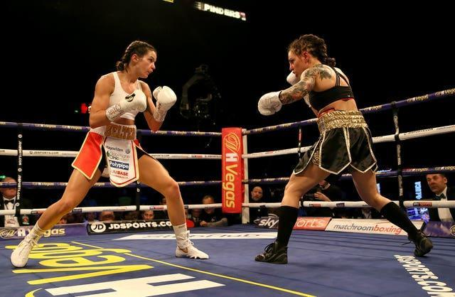 Terri Harper, left beat Eva Wahlstrom to become a world champion last year (Richard Sellers/PA)