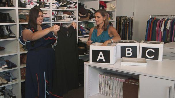 PHOTO: Glamour magazine's fashion features editor Lauren Chan tried out three clothing box services for 'GMA.' (ABC News)