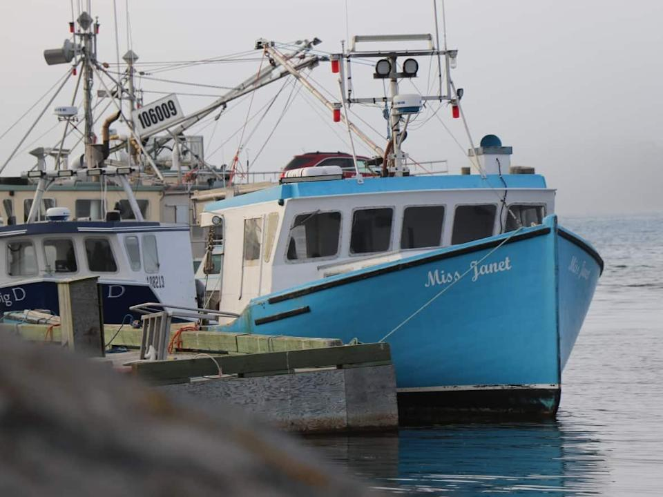 The FV Miss Janet seen here docked in Yarmouth, N.S., on Oct. 14, 2021. (Jeorge Sadi/CBC - image credit)
