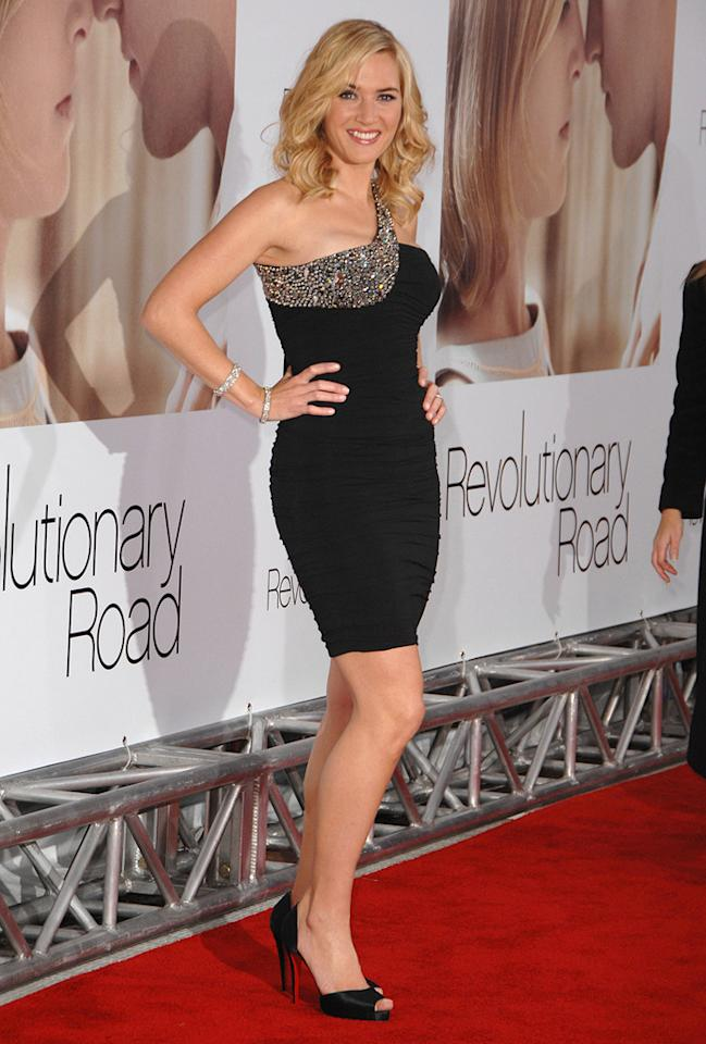 """<a href=""""http://movies.yahoo.com/movie/contributor/1800019032"""">Kate Winslet</a> at the Los Angeles premiere of <a href=""""http://movies.yahoo.com/movie/1809883886/info"""">Revolutionary Road</a> - 12/15/2008"""