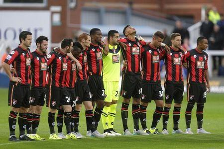 Football - Hartlepool United v AFC Bournemouth - Capital One Cup Second Round - Victoria Park - 15/16 - 25/8/15 Bournemouth players line up before the game Mandatory Credit: Action Images / Graham Stuart