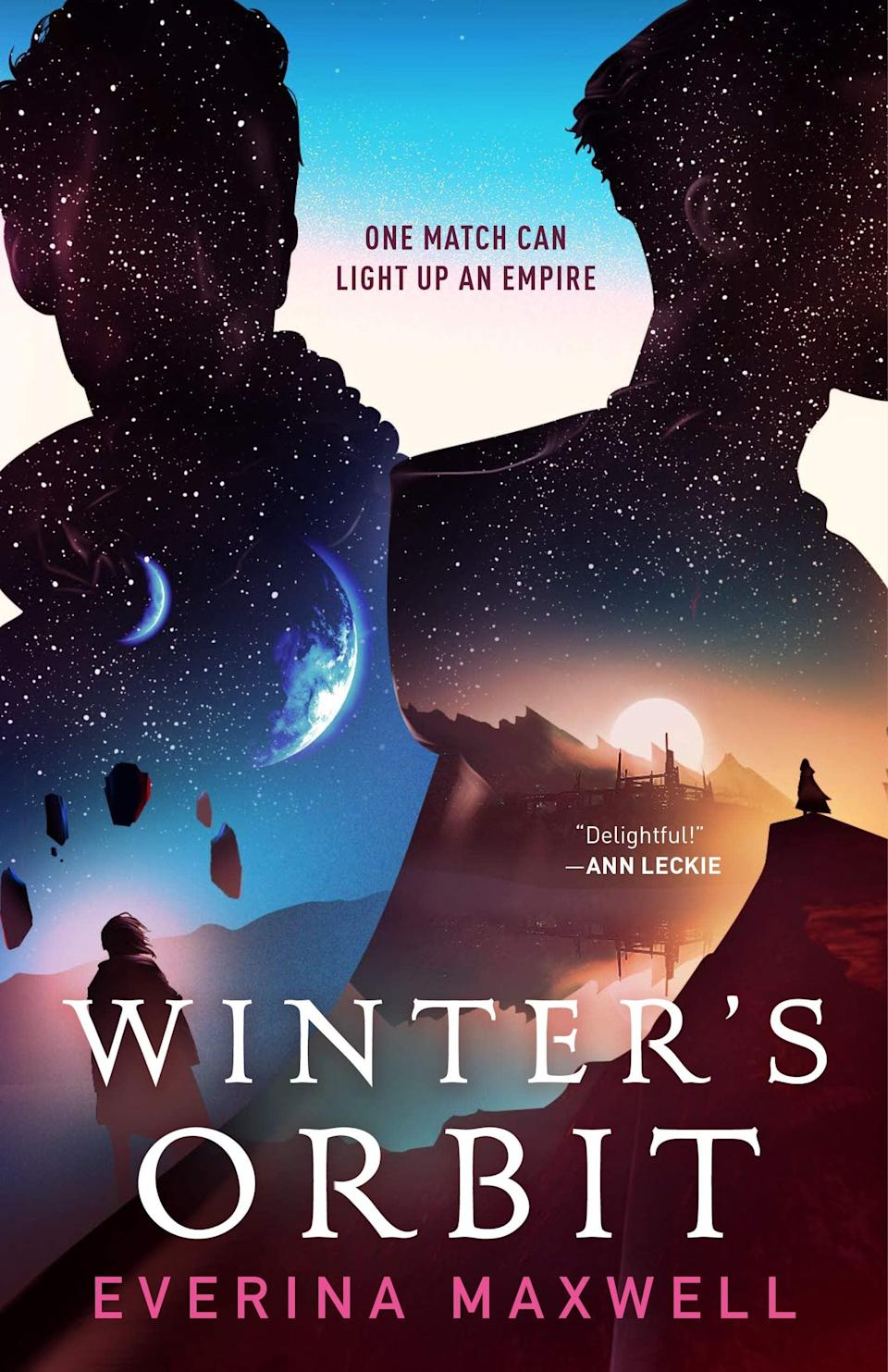 <p><span><strong>Winter's Orbit</strong></span> by Everina Maxwell is already drawing comparisons to Casey McQuiston's <strong>Red, White and Royal Blue</strong>, but this political romance comes with a twist: it's a sci-fi tale about a marriage between a minor royal and a count who is convinced his previous husband was murdered. In order to unite the empire, the marriage of convenience between Prince Kiem and Count Jainan must not fail, but there are no guarantees when a far-reaching conspiracy threatens the peace they're fighting for.</p> <p><em>Out Feb. 2</em></p>