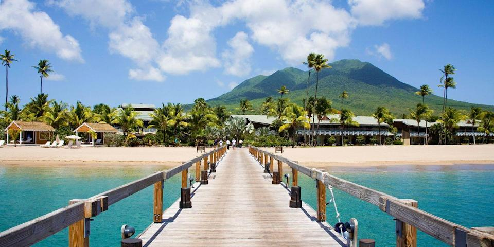 """<p>Did you know that Alexander Hamilton was born on Nevis? This little-known island has a small museum dedicated to the founding father. It also has plenty of gorgeous strands, including 4-mile-long <a href=""""https://www.tripadvisor.com/Attraction_Review-g147378-d148420-Reviews-Pinney_s_Beach-Charlestown_Nevis_St_Kitts_and_Nevis.html"""" rel=""""nofollow noopener"""" target=""""_blank"""" data-ylk=""""slk:Pinney's"""" class=""""link rapid-noclick-resp"""">Pinney's</a>, with just a sprinkling of local businesses, including <a href=""""https://www.tripadvisor.com/Restaurant_Review-g147378-d982569-Reviews-Sunshine_s_Bar_Lounge_Grill-Charlestown_Nevis_St_Kitts_and_Nevis.html"""" rel=""""nofollow noopener"""" target=""""_blank"""" data-ylk=""""slk:Sunshine's"""" class=""""link rapid-noclick-resp"""">Sunshine's</a> beach bar, where everyone ends up at some point.</p><p><a class=""""link rapid-noclick-resp"""" href=""""https://go.redirectingat.com?id=74968X1596630&url=https%3A%2F%2Fwww.tripadvisor.com%2FHotel_Review-g147378-d184851-Reviews-Four_Seasons_Resort_Nevis_West_Indies-Charlestown_Nevis_St_Kitts_and_Nevis.html&sref=https%3A%2F%2Fwww.redbookmag.com%2Flife%2Fg34756735%2Fbest-beaches-for-vacations%2F"""" rel=""""nofollow noopener"""" target=""""_blank"""" data-ylk=""""slk:BOOK NOW"""">BOOK NOW</a> Four Seasons Resort Nevis</p><p><a class=""""link rapid-noclick-resp"""" href=""""https://go.redirectingat.com?id=74968X1596630&url=https%3A%2F%2Fwww.tripadvisor.com%2FHotel_Review-g147378-d148439-Reviews-Montpelier_Plantation_Beach-Charlestown_Nevis_St_Kitts_and_Nevis.html&sref=https%3A%2F%2Fwww.redbookmag.com%2Flife%2Fg34756735%2Fbest-beaches-for-vacations%2F"""" rel=""""nofollow noopener"""" target=""""_blank"""" data-ylk=""""slk:BOOK NOW"""">BOOK NOW</a> Montpelier Plantation</p>"""