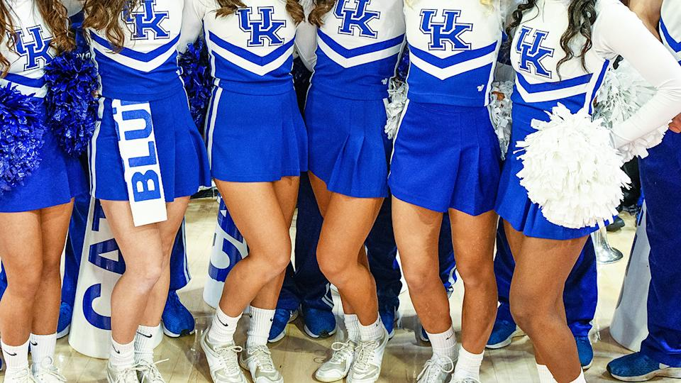 Kentucky Wildcats Cheerleaders, pictured here at a game in 2019.