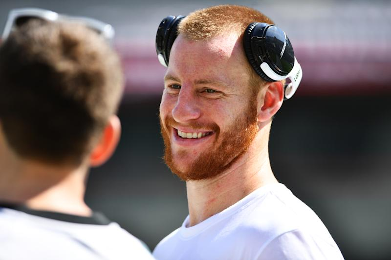 PHILADELPHIA, PA - SEPTEMBER 08: Philadelphia Eagles Quarterback Carson Wentz (11) meets with fans before the game between the Washington Redskins and Philadelphia Eagles on September 08, 2019 at Lincoln Financial Field in Philadelphia, PA. (Photo by Kyle Ross/Icon Sportswire via Getty Images)