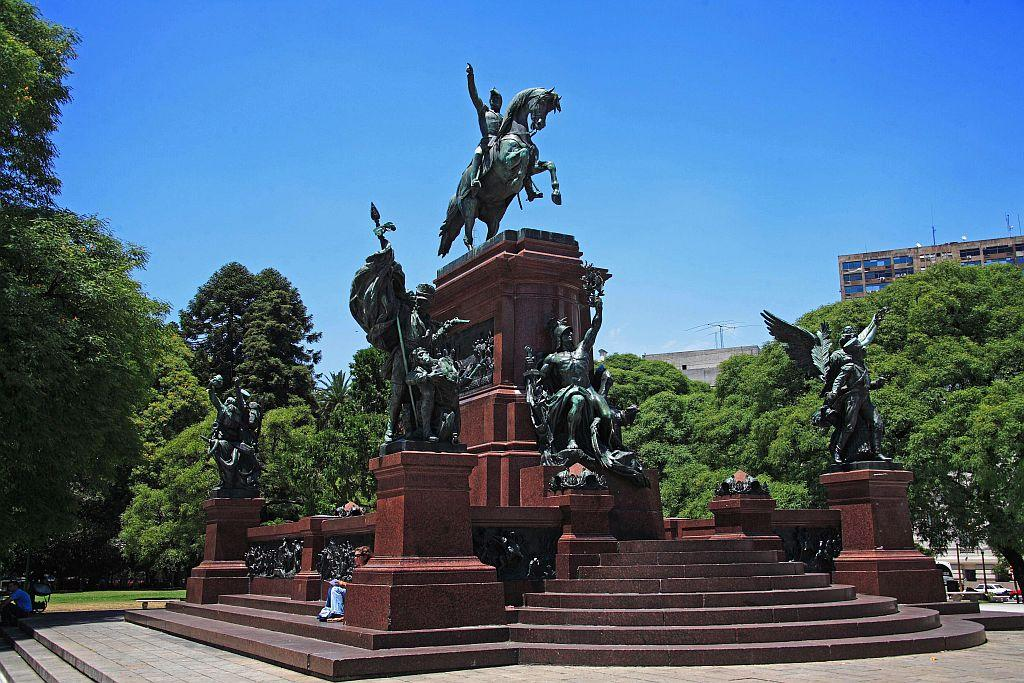 The monument of General San Martin at Plaza San Martin in Buenos Aires, Germany. The Republic of Argentina is a former Spanish colony and the capital Buenos Aires is one of the biggest cultural centre of the South American continent.