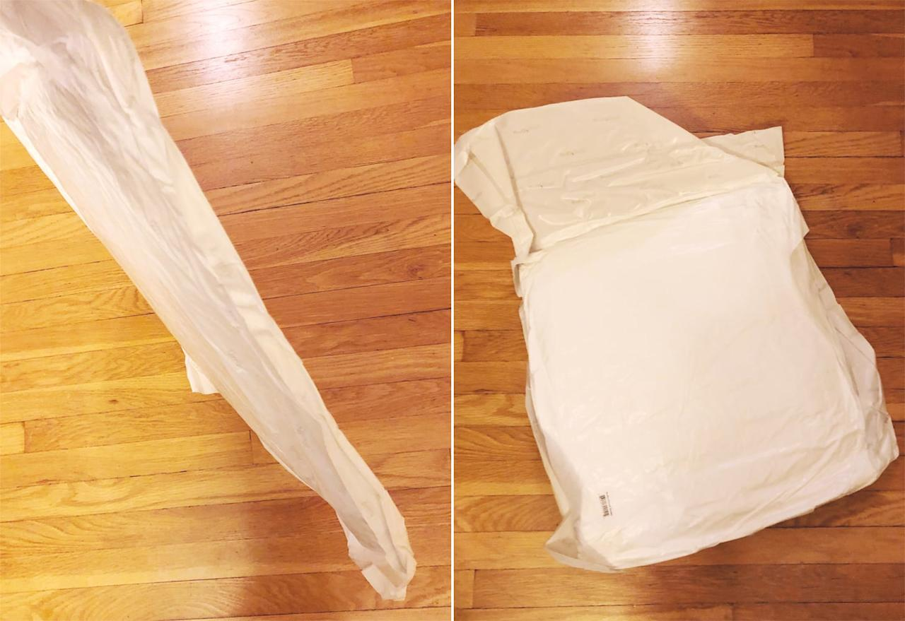 <p>No, this isn't a diaper. The comforter is vacuum-packed for compact shipping, which I very much appreciate. Less waste and a smaller footprint is a win-win in my book. </p>