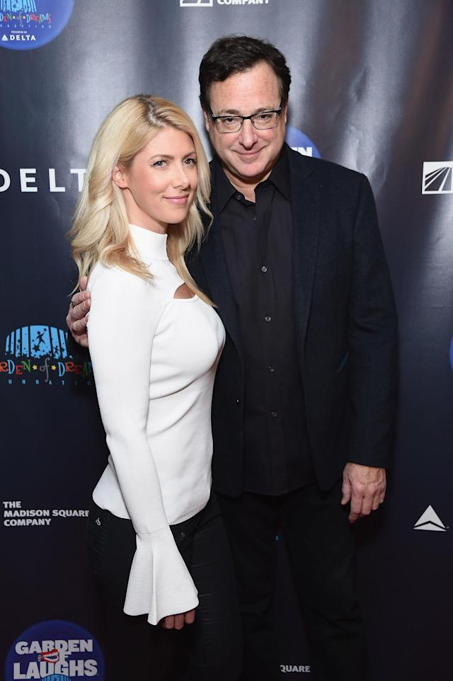 Kelly Rizzo and Bob Saget in New York City in March. (Photo: Getty Images)