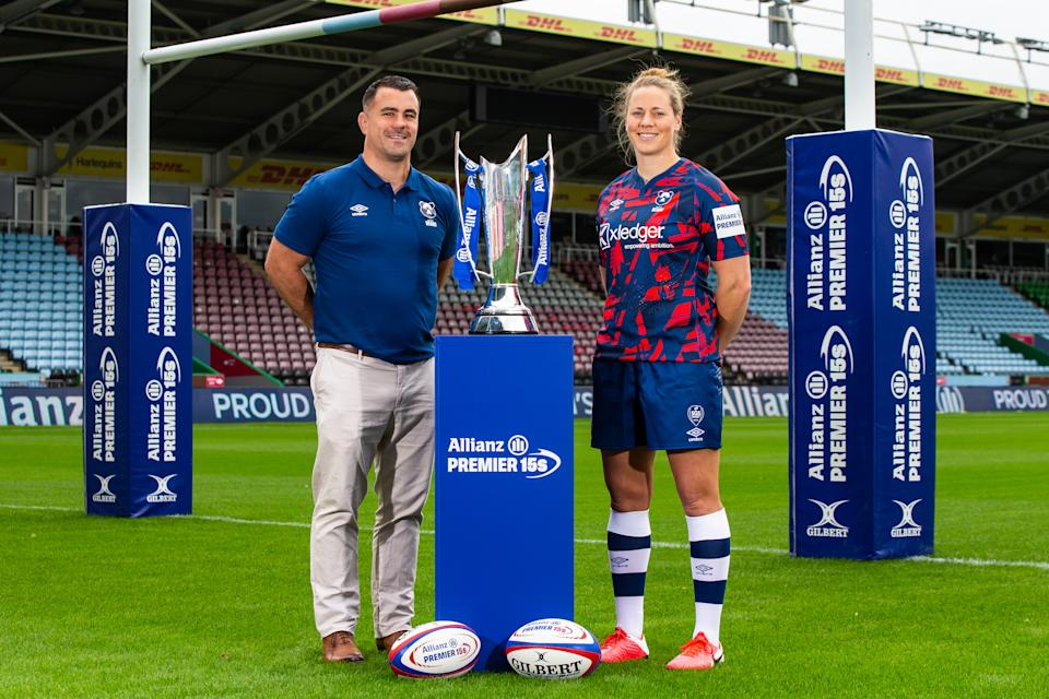 Amber Reed with new coach Dave Ward as the Allianz Premier 15s returns