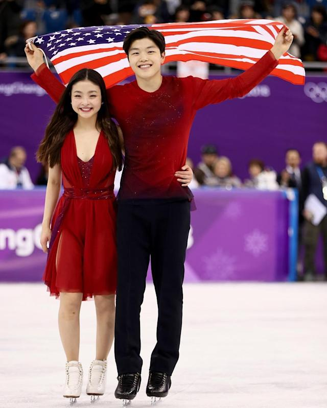 <p>alexshibutani: WE DID IT!!!!! @maiashibutani @shibsibs @teamusa<br> (Photo via Instagram/alexshibutani) </p>