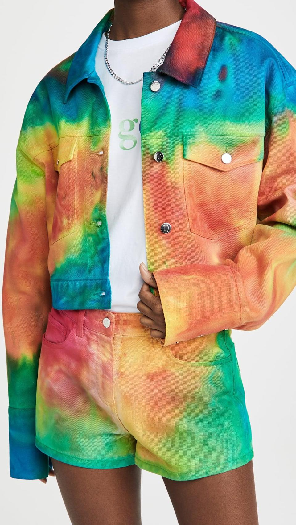 <p>Don't let your love of tie-dye fade away. Indulge in this <span>Ireneisgood Denim Jacket</span> ($455).</p>