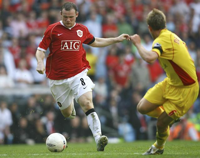 <p>Rooney struck hard and true in the sixth minute of Manchester United's FA Cup semi-final against Watford in 2007. Cutting inside from the left flank, the forward hit a piledriver into the roof of the net. </p>