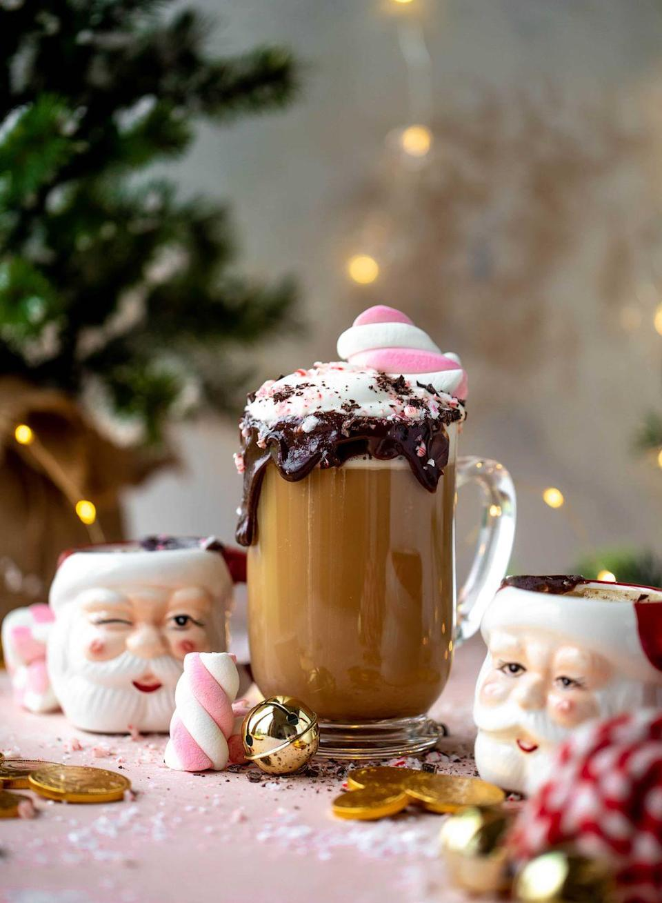 """<p>If you've been up all night playing Santa, this coffee-based whiskey cocktail is just the thing you need to put a little pep in your step on Christmas day. </p><p><em>Get the recipe at <a href=""""https://www.howsweeteats.com/2019/12/saint-nick-special-cocktail/"""" rel=""""nofollow noopener"""" target=""""_blank"""" data-ylk=""""slk:How Sweet Eats"""" class=""""link rapid-noclick-resp"""">How Sweet Eats</a>. </em></p>"""