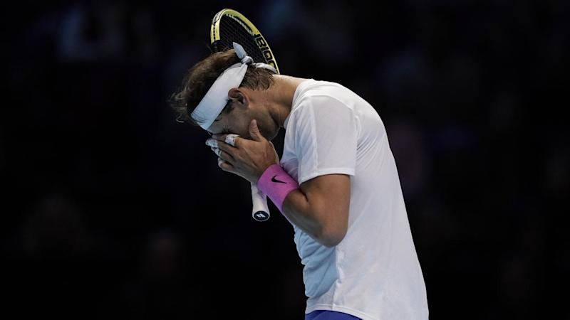 Rafael Nadal struggled for form in his defeat to Alexander Zverev at the ATP Finals