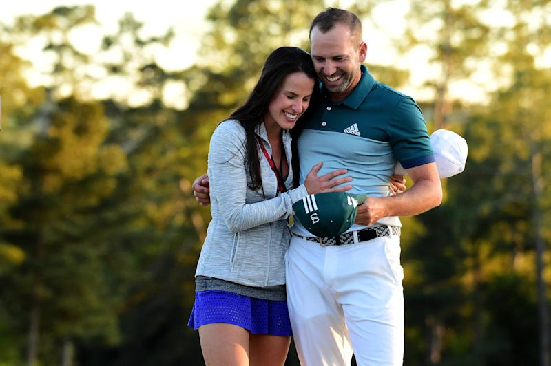 Sergio Garcia talks Masters win from hospital alongside wife in labor