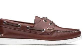 Calf leather boat shoes