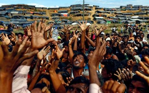 Rohingya refugees live in squalor and dependent on aid in Bangladesh - Credit: Danish Siddiqui/Reuters