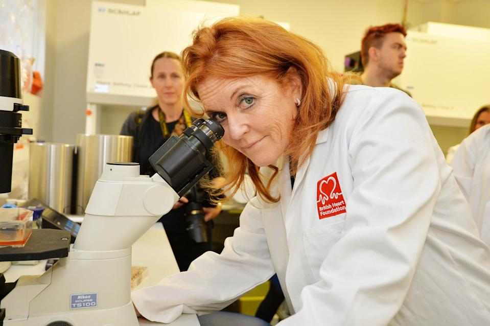 The Duchess of York at the Queen Mary University of London after she was announced as the official ambassador for the British Heart Foundation [Photo: PA]