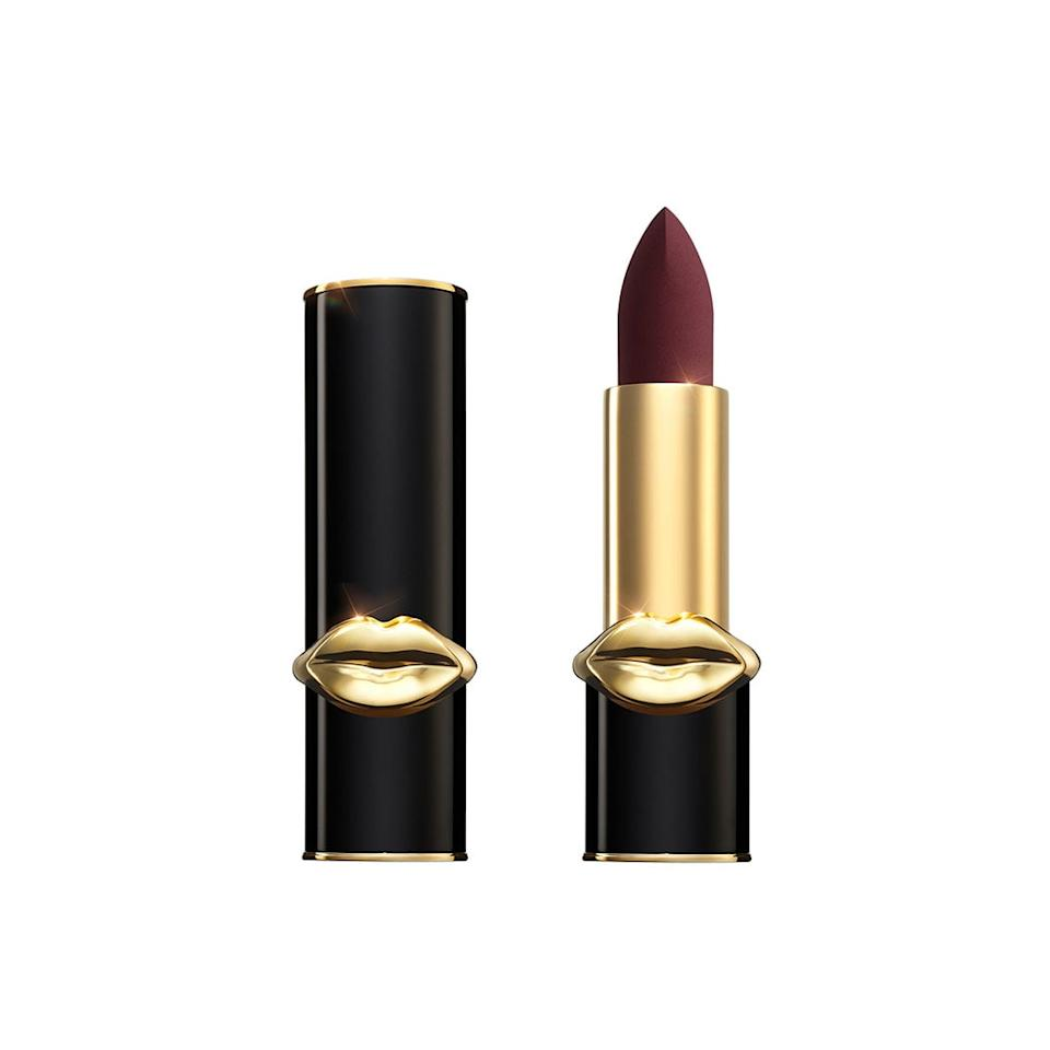 """<p>""""<product href=""""https://www.net-a-porter.com/en-gb/shop/product/pat-mcgrath-labs/mattetrance-lipstick-divine-brown/1093135"""" target=""""_blank"""" class=""""ga-track"""" data-ga-category=""""internal click"""" data-ga-label=""""https://www.net-a-porter.com/en-gb/shop/product/pat-mcgrath-labs/mattetrance-lipstick-divine-brown/1093135"""" data-ga-action=""""body text link"""">Pat McGrath MatteTrance Lipstick in Divine Brown</product> ($45) is such a gorgeous chocolate brown,"""" said Barnes. """"Deep, rich, and expensive looking, you can always mix it with a lighter neutral-colored lippy to add shade and volume to your lips.""""</p>"""