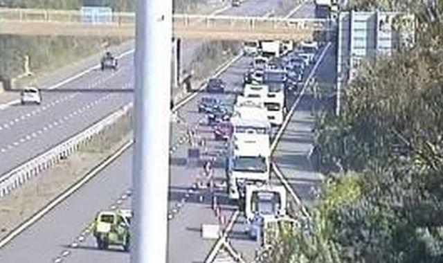 Man arrested after lorry driver dies in M5 crash