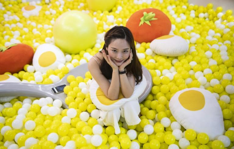 "The pop-up installation is described by organisers as ""created to share the universal love of eggs"""