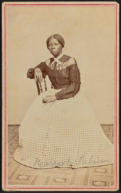 Harriet Tubman, 1868 or 1869, taken by Benjamin Powelson.