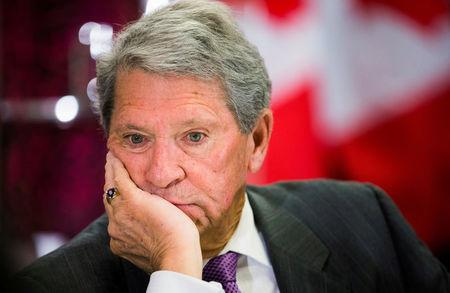 FILE PHOTO: Hunter Harrison, CEO of Canadian Pacific Railway Limited, looks on before speaking to the economic community at a business luncheon in Toronto, Canada, on March 2, 2015.  REUTERS/Mark Blinch/File Photo