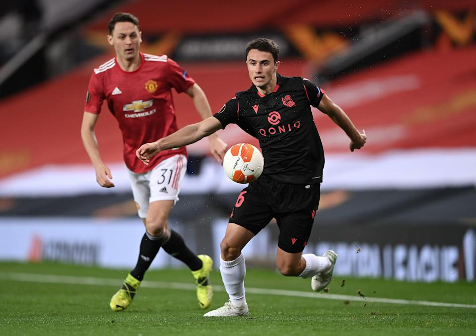 Nemanja Matic in action against Ander Guevara (Getty Images)