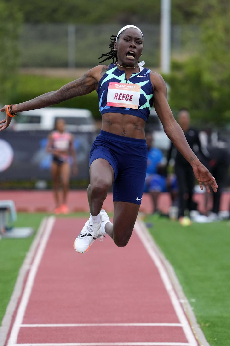 Brittney Reese, who qualified for her fourth Olympics in June, won gold in the long jump at the 2012 London Olympics, then took the silver at the Rio Games.