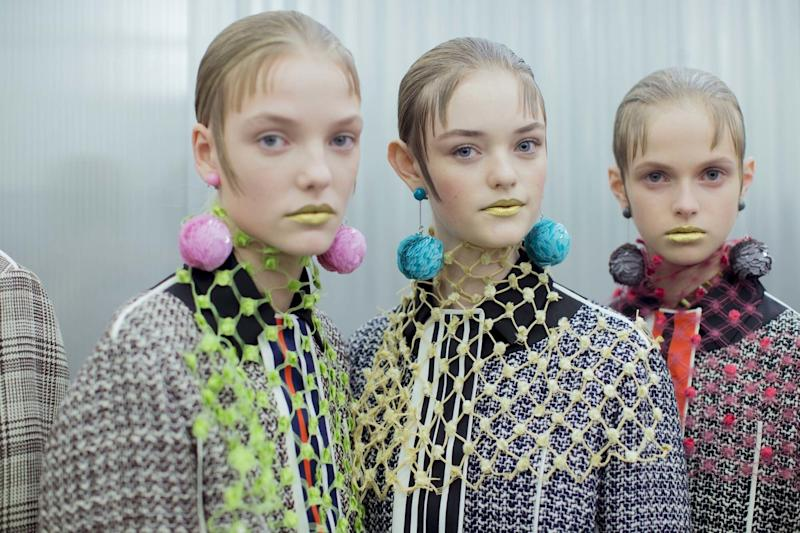 Pat McGrath's penchant for gold pigments swept Spring 2016's runways. At Prada, the opulent, eclectic collection was accompanied by metallic lips that were simultaneously kooky and decadent.