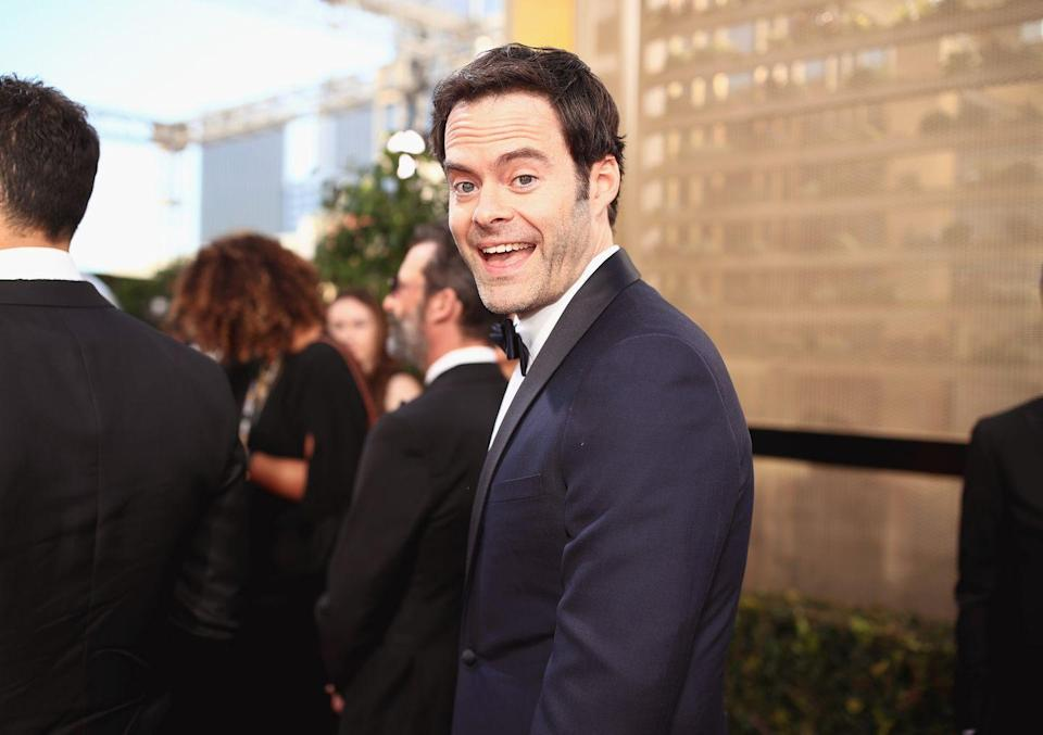 """<p>If you want to make a lasting impression at your first job, you could take some pointers from Bill Hader. According to <a href=""""https://www.huffpost.com/entry/bill-hader-mike-sacks-interview-poking-a-dead-frog-_n_5582142"""" data-ylk=""""slk:HuffPost"""" class=""""link rapid-noclick-resp"""">HuffPost</a>, the actor worked at a movie theater while attending Scottsdale Community College. </p><p>He reportedly once sold a box of Raisinets to a very nervous Michael Bay at a screening for <em>Armageddon</em> before being fired for getting back at some annoying customers by spoiling the end of <em>Titanic</em>.</p><p>""""I had really long hair at the time, and a beard. I looked like Charles Manson but I had to wear a cummerbund and a bow tie and stand there taking tickets,"""" he explained. """"One night a group of sorority girls came in and were blocking the doors. I asked them to move...They were being really rude to me. So, as I tore the tickets I said, 'By the way the boat sinks at the end, Leo dies...It's great, you think he's sleeping, but he's frozen! Oh and the old lady throws the jewelry in the ocean. Enjoy the movie.' My always-stoned boss had to come over and go, 'Did you just tell them the end of Titanic? I <em>have</em> to fire you.'""""</p>"""