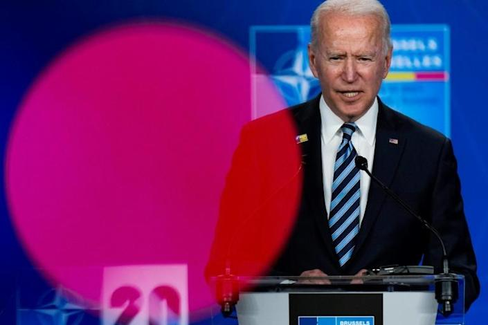 """Biden said he wasn't looking for conflict with Moscow, but """"we will respond if Russia continues its harmful activities"""""""