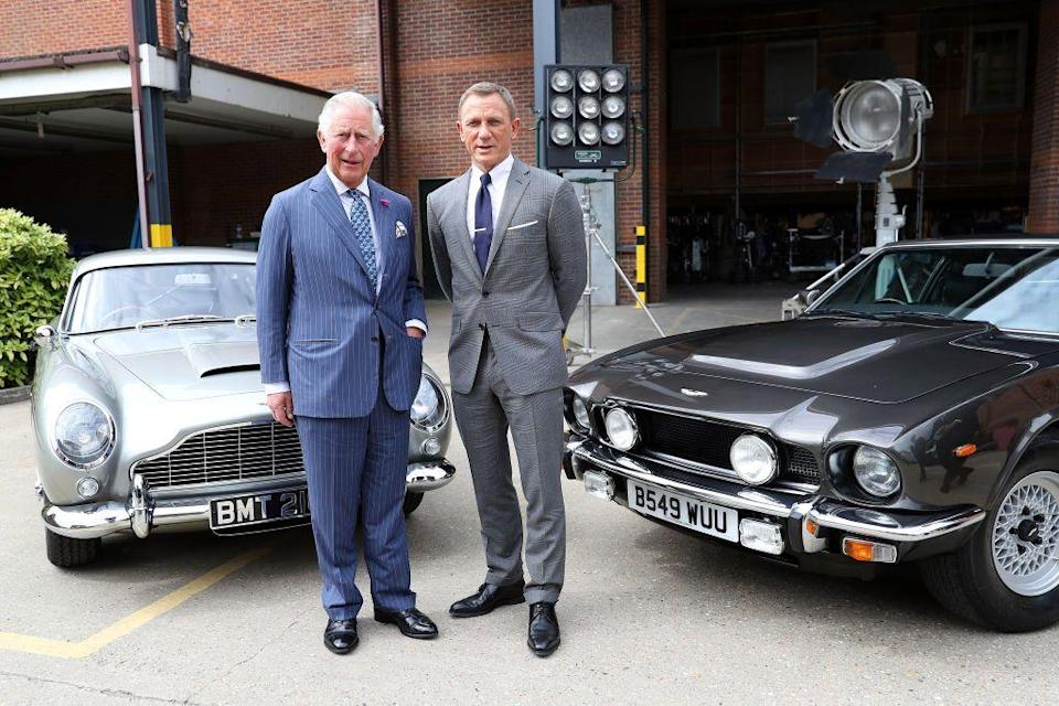 <p>Though it wasn't exactly a premiere, Prince Charles met James Bond himself (aka Daniel Craig) during a visit to the James Bond set in Iver Heath, England. </p>