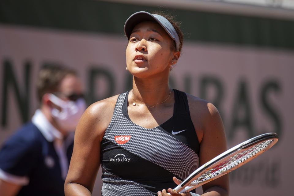 Pictured here, Naomi Osaka at the 2021 French Open before she withdrew from the tournament.