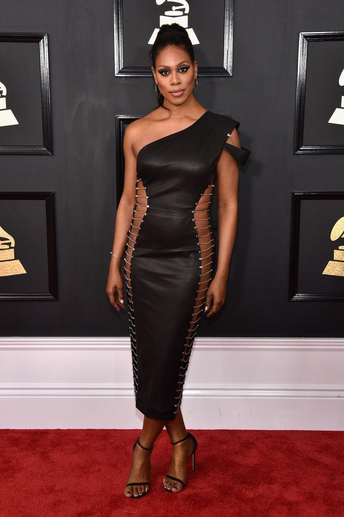 Laverne Cox in Bryan Hearns. (Photo: Getty Images)