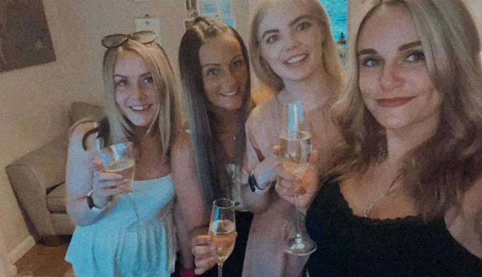 Kerrie Dodd and friends Charlotte, Jess and Jess out in Wallasey in May 2021. PA REAL LIFE/ COLLECT