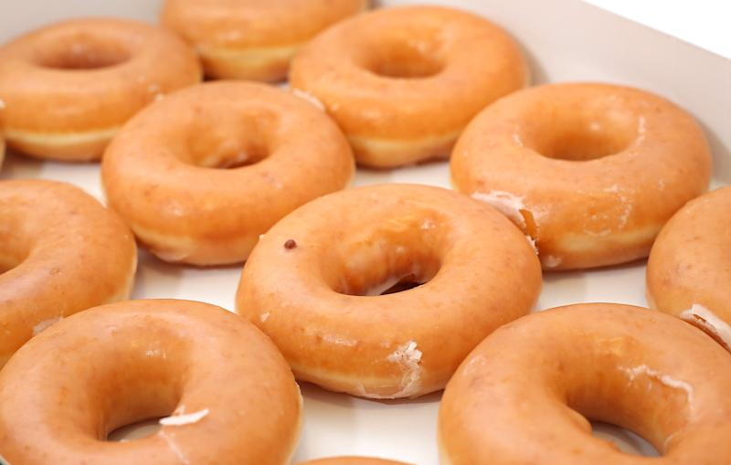 Krispy Kreme doughnuts. (Photo by Philip Toscano/PA Images via Getty Images)