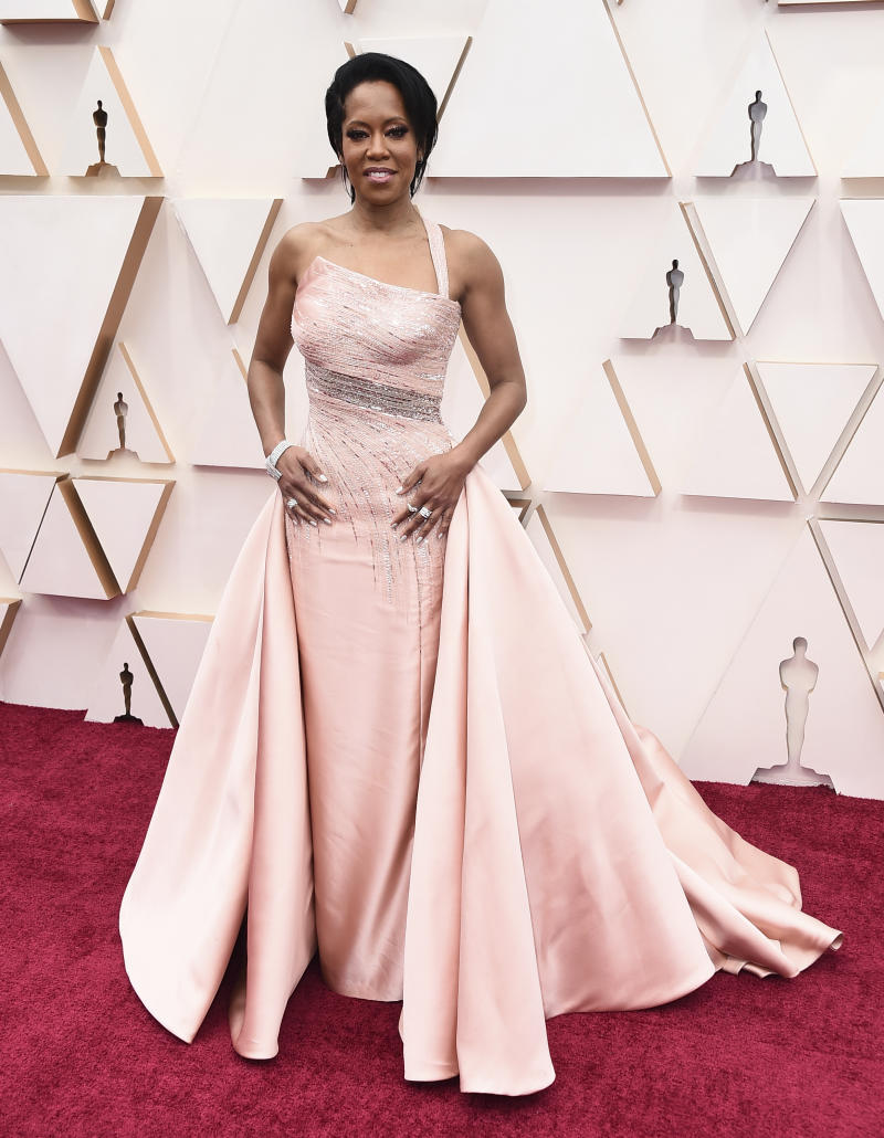 Regina King arrives at the Oscars on Sunday, Feb. 9, 2020, at the Dolby Theatre in Los Angeles. (Photo by Jordan Strauss/Invision/AP)